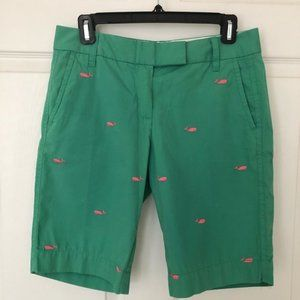 J. Crew City Fit Green Chino Shorts